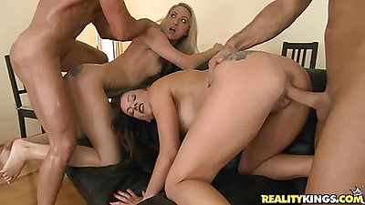 Euro sluts doing reverse cow girl anal fuck