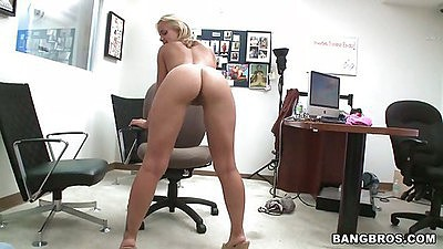 Naked chick at our office on facial fest