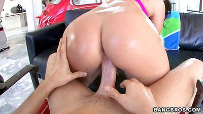 3some ass licking and reverse cowgirl