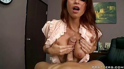 Titty fucking from half dressed babe Monique