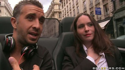 Going for a drive around Paris with Tiffany Doll and going up he rass