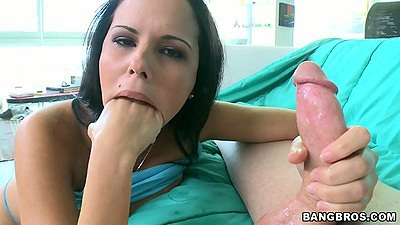 Diamond Kitty trying to fist her own mouth and riding cock with big ass