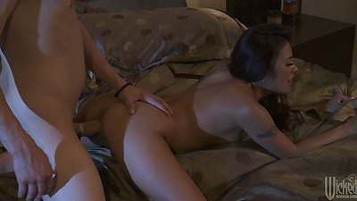 Doggy style with asian chick Kaylani Lei