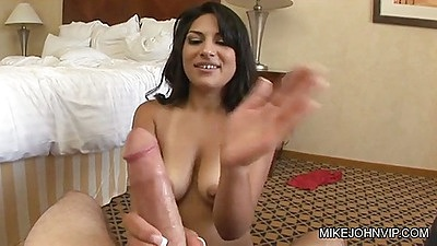 Horny Virginia Want jerking and titty fucking big dick with front penetration
