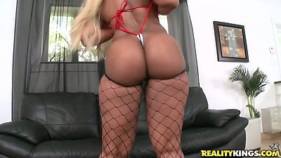 Nice round big ebony ass Angel and tiny tiny tits