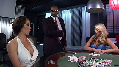 Poker time with Katie Summers and Deviant Kade playing for dick