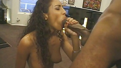 Big dick blowjob with ebony Dee and spread leg penetration