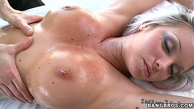 Big tits oil massage with Deadra Dee