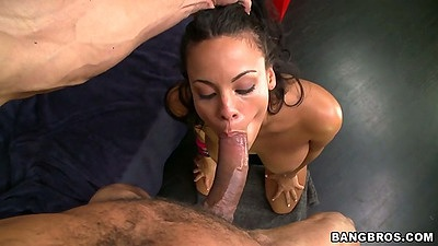 Pov big dick latina blowjob with Luna Star with rear entry doggy