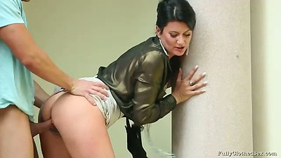 A quick doggy fuck with my wife in her catsuit 7