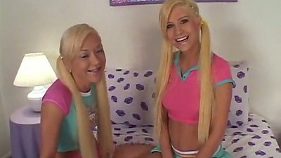 Little Laney and perky tiny tits girls