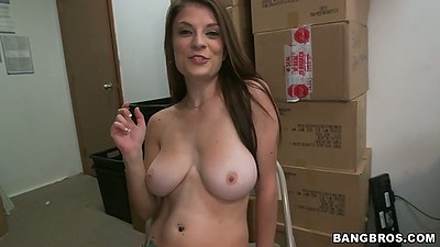 Big tit audition Dillion Carter comes in and sucks dick