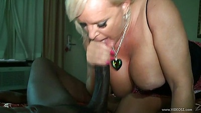 Black cock white girl milf interracial fucking blowjob with large juggs Alexis Golden